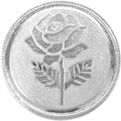 Flower Silver Coin